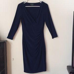 Ralph Lauren Navy Blue Sheath Dress